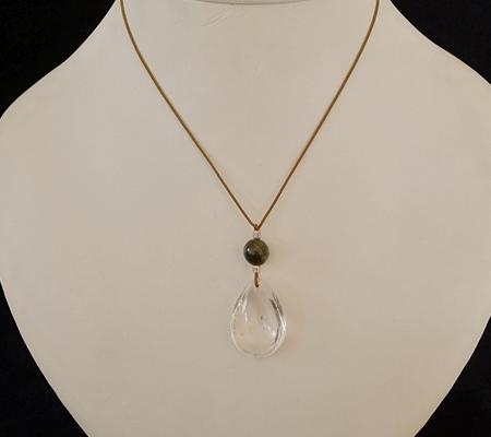 ヒマラヤ水晶紐付きチョーカー034-9