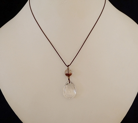 ヒマラヤ水晶紐付きチョーカー035-9