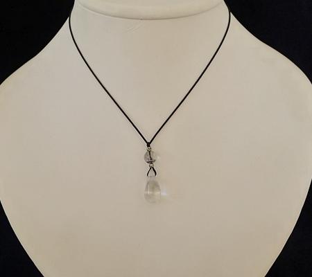 ヒマラヤ水晶紐付きチョーカー036-8