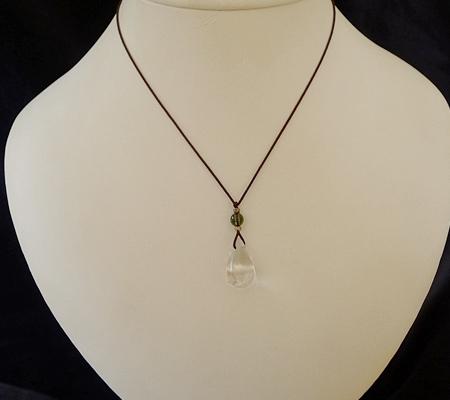 ヒマラヤ水晶紐付きチョーカー037-7
