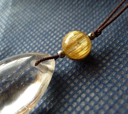 ヒマラヤ水晶紐付きチョーカー039-3