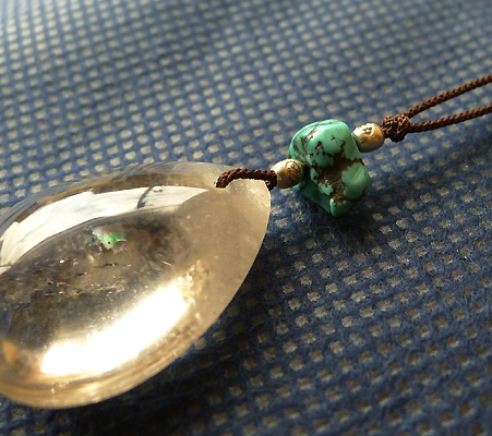 ヒマラヤ水晶紐付きチョーカースモーキークォーツ028-3