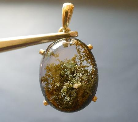 ヒマラヤ水晶ペンダント緑泥石入り037-2