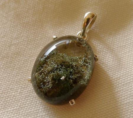 ヒマラヤ水晶ペンダント緑泥石入り037-5