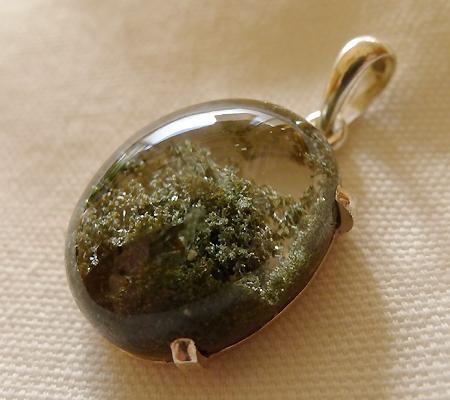 ヒマラヤ水晶ペンダント緑泥石入り037-6