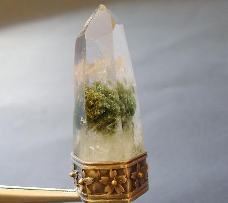 ヒマラヤ水晶ペンダント緑泥石入り039-2