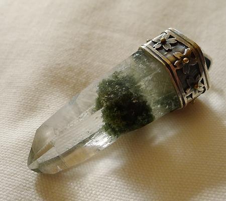 ヒマラヤ水晶ペンダント緑泥石入り039-8