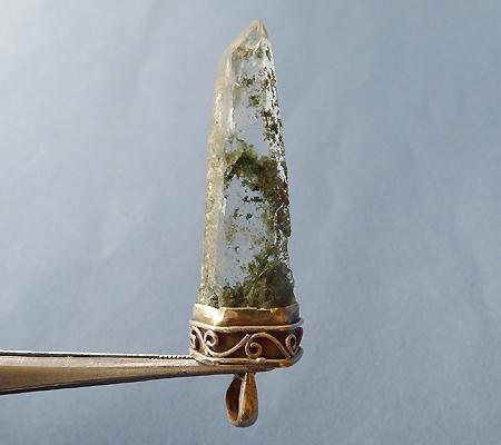 ヒマラヤ水晶ペンダント緑泥石入り041-4