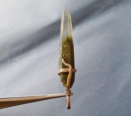 ヒマラヤ水晶ペンダント緑泥石入り045-5