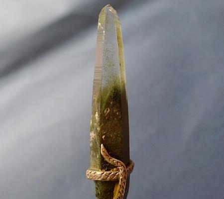 ヒマラヤ水晶ペンダント緑泥石入り045-6