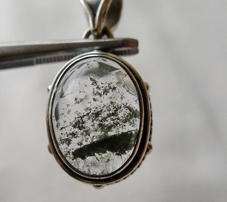 ヒマラヤ水晶ペンダント緑泥石入り047-5