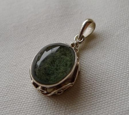ヒマラヤ水晶ペンダント緑泥石入り048-5