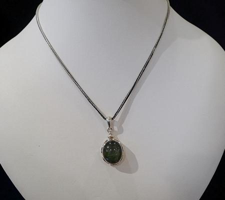ヒマラヤ水晶ペンダント緑泥石入り048-9