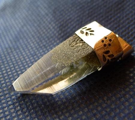 ヒマラヤ水晶ペンダント緑泥石入り054-9