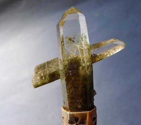 ヒマラヤ水晶ペンダント緑泥石入り058-2