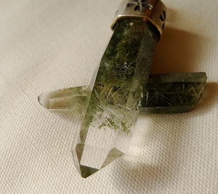 ヒマラヤ水晶ペンダント緑泥石入り058-5