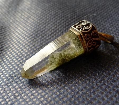 ヒマラヤ水晶ペンダント緑泥石入り059-5