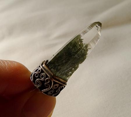 ヒマラヤ水晶ペンダント緑泥石入り059-9