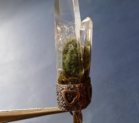 ヒマラヤ水晶ペンダント緑泥石入り060-2