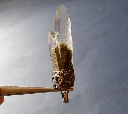 ヒマラヤ水晶ペンダント緑泥石入り060-4
