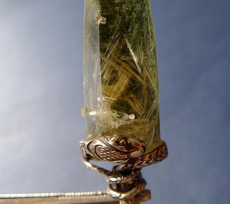 ヒマラヤ水晶ペンダント緑泥石入り061-4
