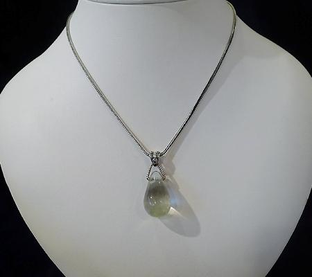 ヒマラヤ水晶ペンダント針金形状内包物入り055-9