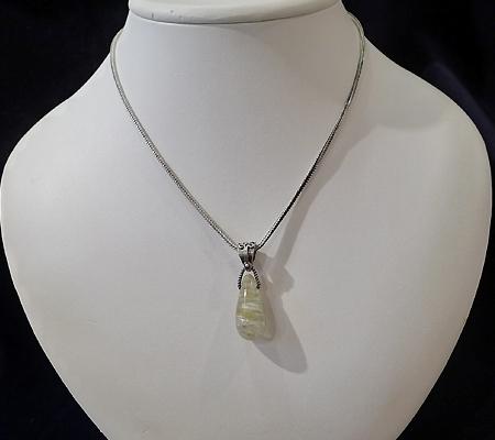 ヒマラヤ水晶ペンダント針金形状内包物入り057-10
