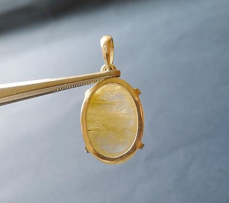 ヒマラヤ水晶ペンダント針金形状内包物入り063-3