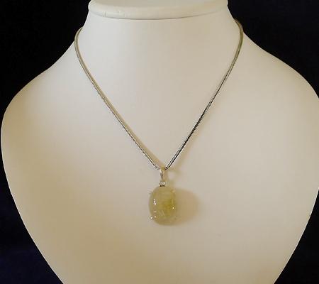 ヒマラヤ水晶ペンダント針金形状内包物入り063-9