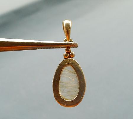 ヒマラヤ水晶ペンダント針金形状内包物入り068-3