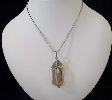 ヒマラヤ水晶ペンダントスモーキークォーツ033-11