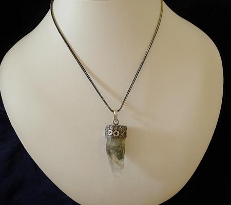 ヒマラヤ水晶ペンダント特殊形状034-10