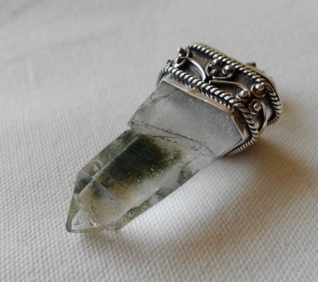ヒマラヤ水晶ペンダント特殊形状037-5