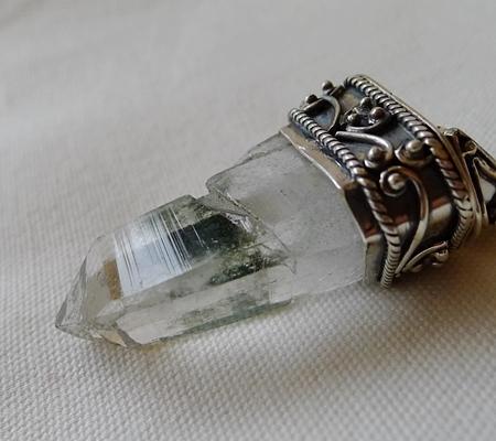 ヒマラヤ水晶ペンダント特殊形状037-6