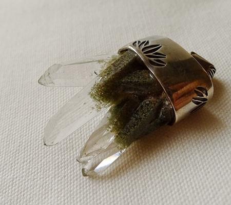 ヒマラヤ水晶ペンダント特殊形状048-9