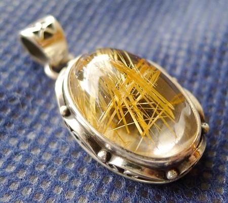 ルチル入り水晶ペンダント019-4