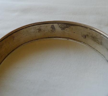 純銀シルバーブレスレット仏教デザイン010-5