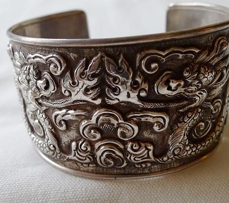 純銀シルバーブレスレット仏教デザイン014-3