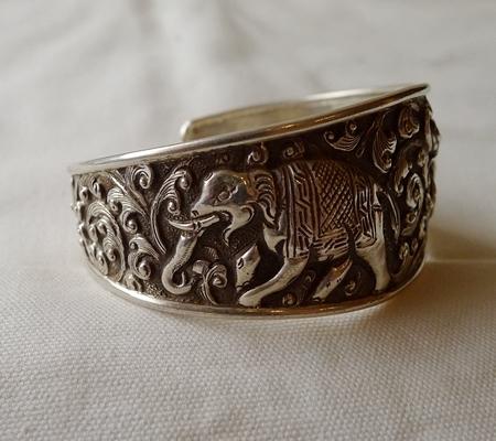 純銀シルバーブレスレット仏教デザイン016-3