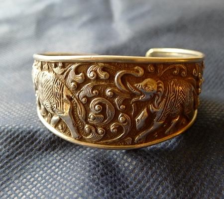 純銀シルバーブレスレット仏教デザイン016-5