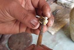 ヒマラヤ水晶ペンダント制作工程08